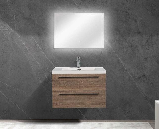 "30"" SOFIA - Soft Oak - Single Sink Wall-Hung Bathroom Vanity"