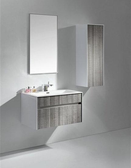 Tona Fitto 32″ Ash Gray Wall Mount Modern Vanity
