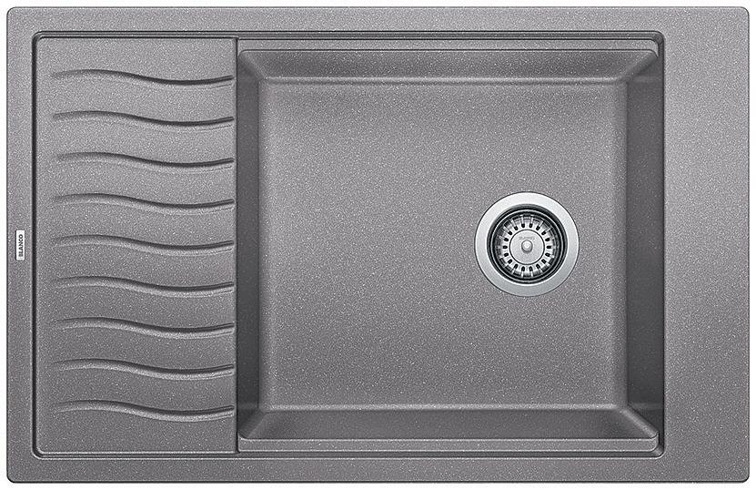 BLANCO PRECIS SINGLE BOWL DUAL MOUNT SILGRANIT SINK WITH DRAINBOARD - MET