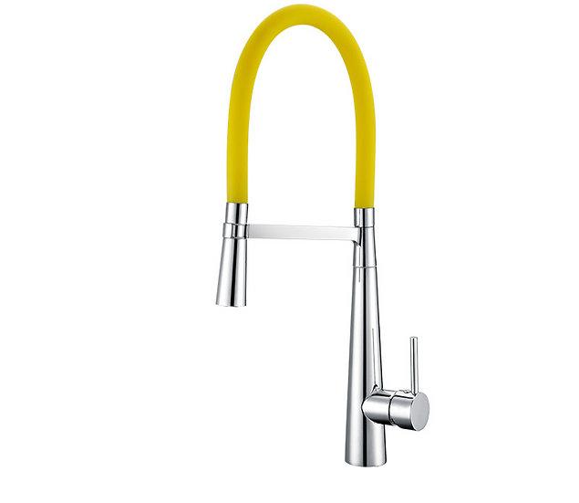 Acqua + Bango, Solid Brass single handle Kitchen Faucet, Yellow and Chro