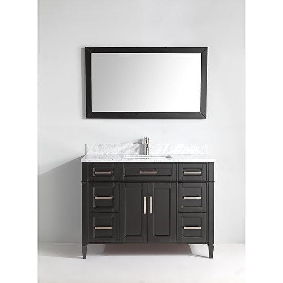 Single Sink Vanity – White Carrara Marble