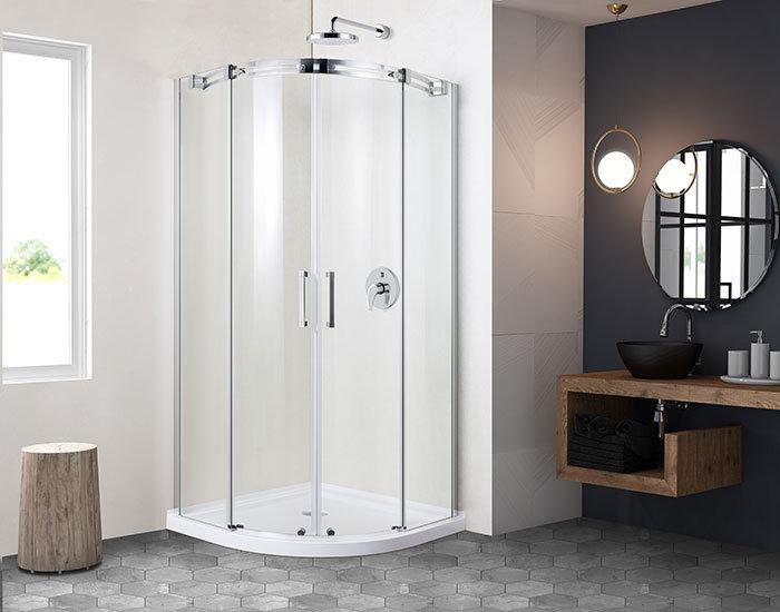 36 x 36 In. Round Sliding Shower Door *glass only*