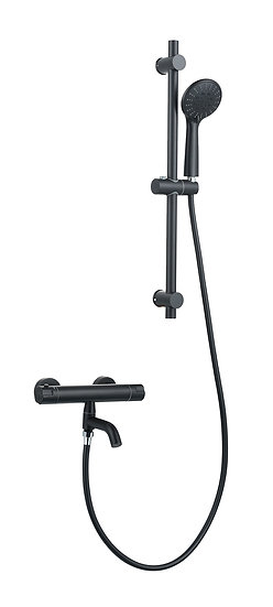 Acqua + Bango, Solid Brass Concealed Shower Mixer, Black