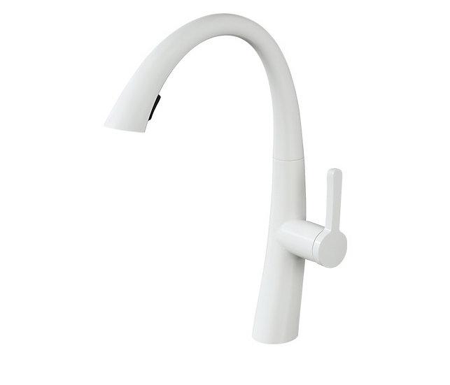 Acqua + Bango, Solid Brass single handle Kitchen Faucet , White