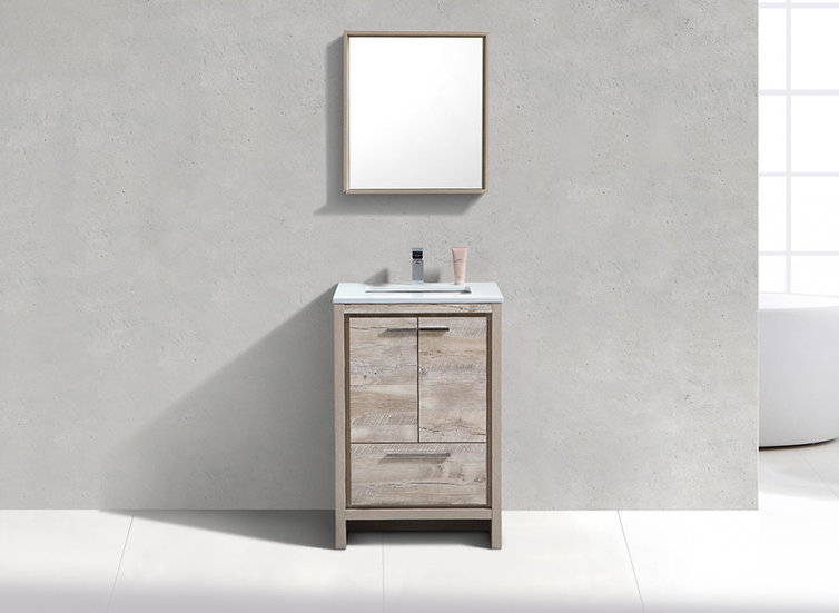 "24"" DOLCE -  Nature Wood - Single Sink Freestanding Vanity"