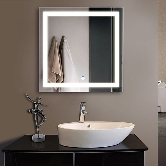 32 x 32 Inch LED Bathroom Mirror