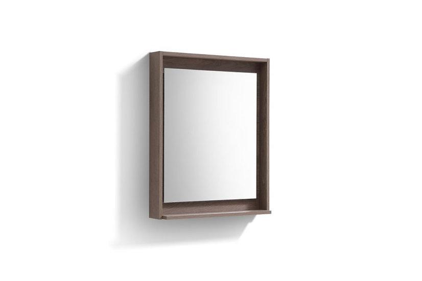 """24"""" Wide Mirror w/ Shelf - Butternut"""