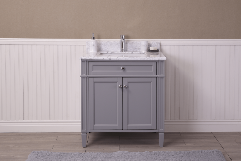 "30"" SOREL - Grey - Single Sink Bathroom Vanity"