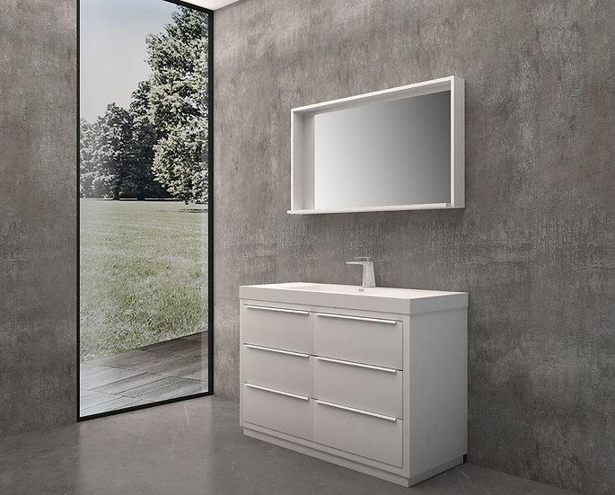 "48"" Oakland - White - Single Sink Bathroom Vanity"