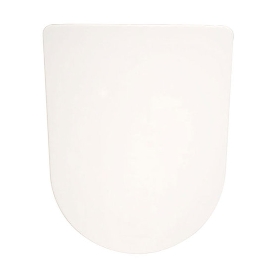 PP White Front Round Close Soft Close Toilet Seat With Cover