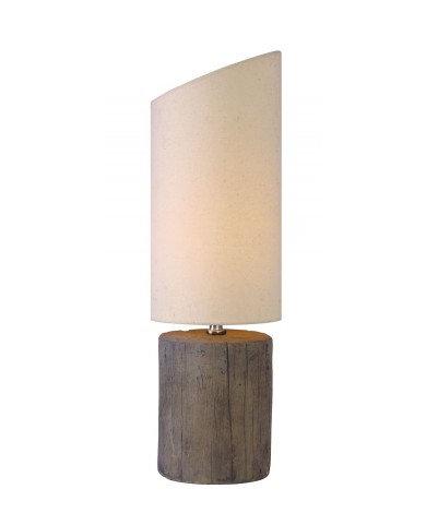 Ceramic Log Table Lamp 19``