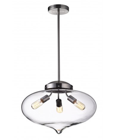 Giant Aladdin Glass Fixture for 3 Edison Bulbs