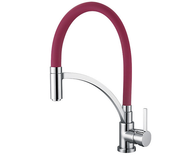 Acqua + Bango, Solid Brass single handle Kitchen Faucet, Claret and Chro