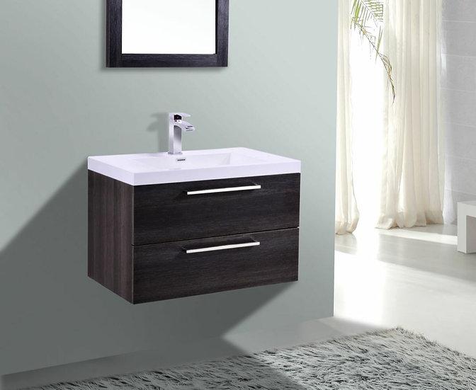"30"" ECLIPSE - Distressed Oak - Single Sink Wall-Hung Vanity"