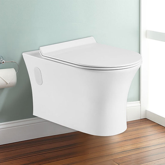 Wall Hung Toilet Bowl - White, OPT819878746