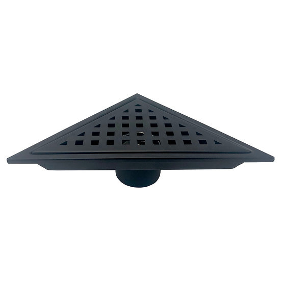 6.5″ TRIANGLE STAINLESS STEEL PIXEL GRATE – MATTE BLACK