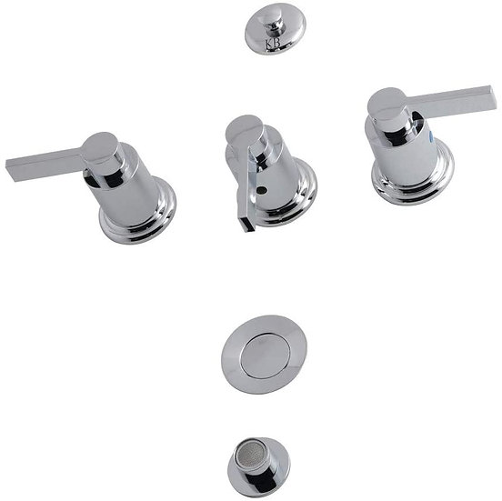 "Nuvofusion Bidet Faucet, 8"" (L) x 2-1/8 (W), Polished Chrome"