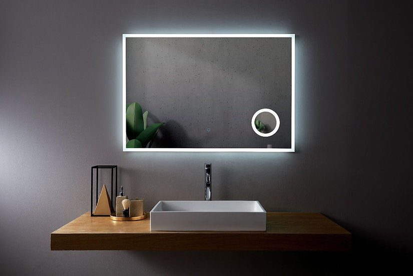 """Mirror 48"""" LED M-1039 with magnifying mirror"""