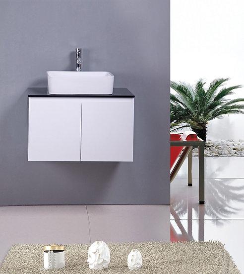 "30"" Cali - White - Single Sink Wall-Hung Bathroom Vanity"