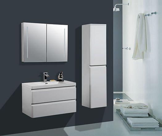 "36"" Avanti White - Single Sink Wall-Hung Bathroom Vanity"