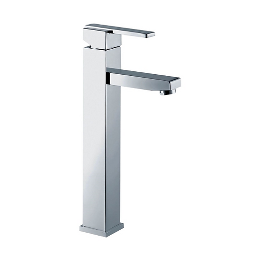 Aqua Piazza Single Lever Bathroom Vessel Sink Faucet - Chrome