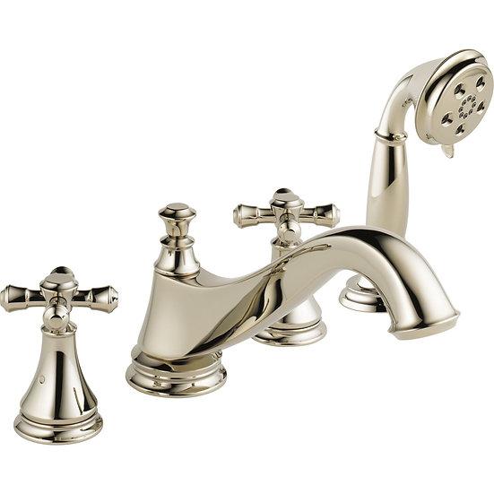 CASSIDY™ Roman Tub Trim with Hand Shower - Low Arc Spout - Less Handles