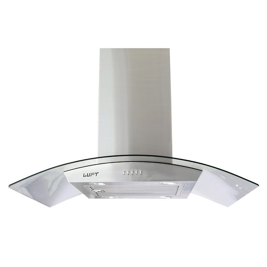 "LUFT 36"" Island Stainless Steel & Glass Range Hood"