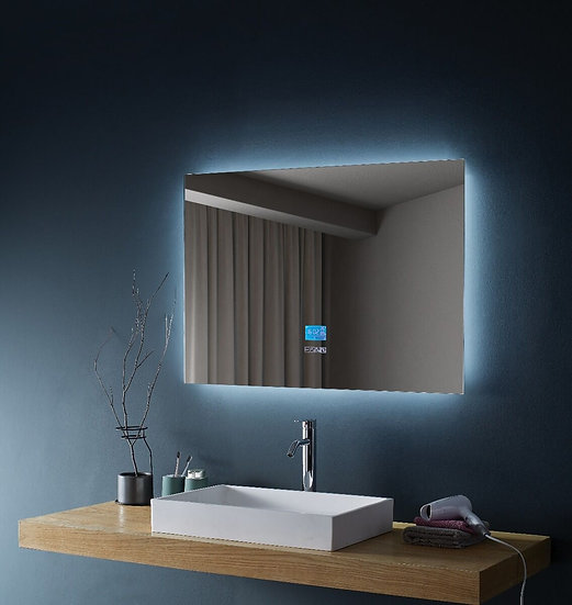 """Mirror 48"""" LED M-971 with time/temperature/defogger/ bluetooth on integrate scre"""