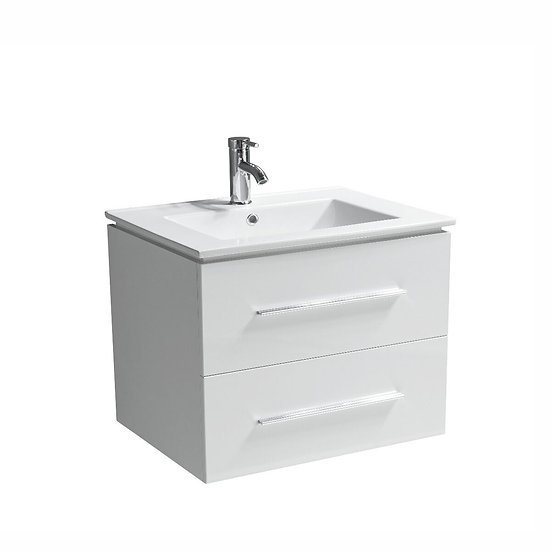 "30"" Jacob- White - Single Sink Modular Wall-Hung Bathroom Vanity"
