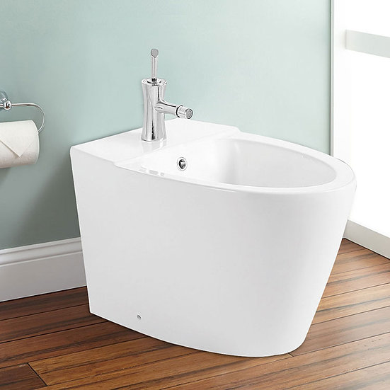 White Bidet with Faucet