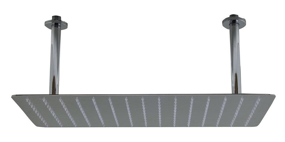 "LBG RAIN2012-PSS Universal 20"" Rectangular Solid Ultra Thin Rain Shower H"