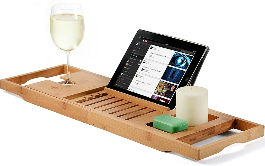Premium Bamboo Bathtub Tray Caddy