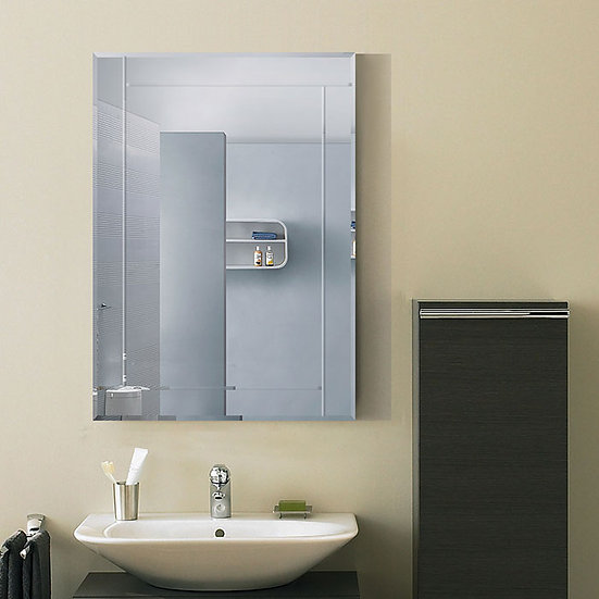 28 x 20 In. Wall-mounted Rectangle Bathroom Silvered Mirror