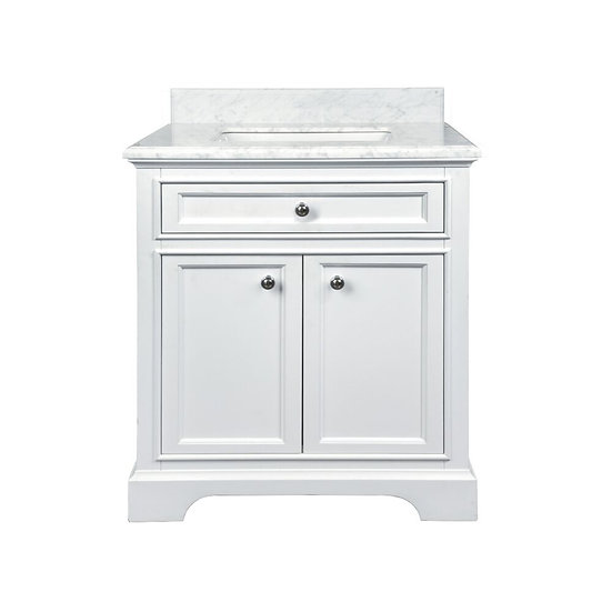 """30"""" MILAN - White - Bathroom Vanity"""