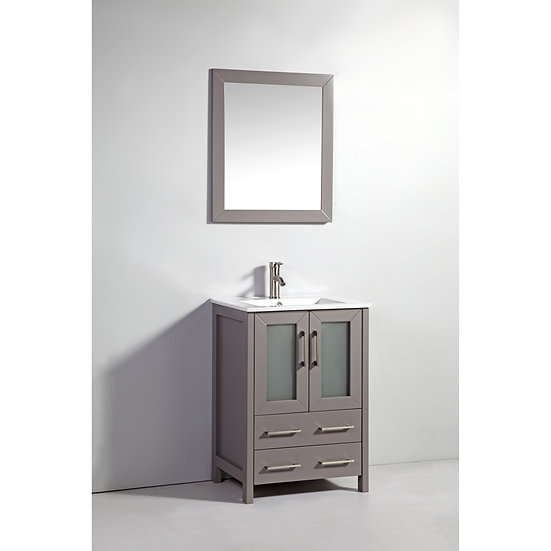 Single Sink Vanity – White Ceramic Vanity Top