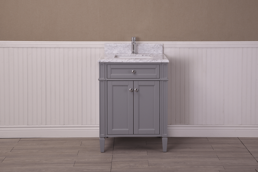 "24"" SOREL - Grey - Single Sink Bathroom Vanity"
