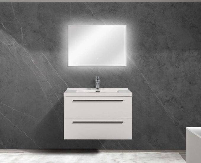 "36"" SOFIA - Lily White - Single Sink Wall-Hung Bathroom Vanity"