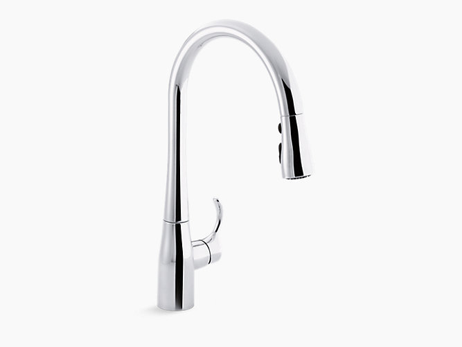 Simplice® By Kohler Single-Hole Or Three-Hole Kitchen Sink Faucet With Spray