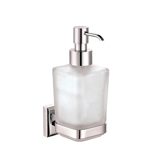 AQUA NUON WALL MOUNT FROSTED GLASS SOAP DISPENSER – CHROME