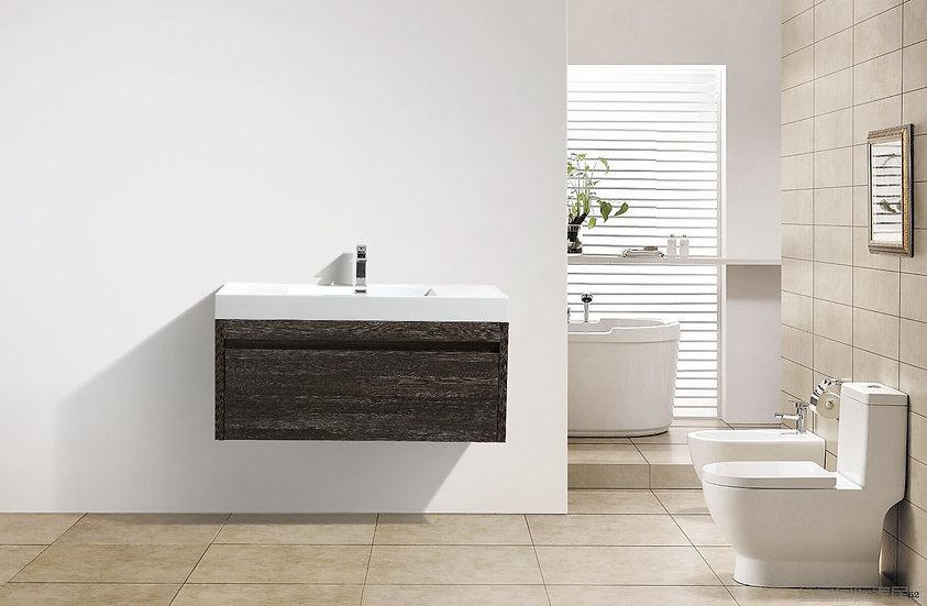 "48"" Labrador - Dark Oak - Single Sink Wall-Hung Bathroom Vanity"