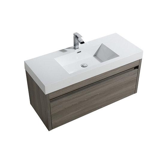 """48"""" Labrador - Maple Grey - Single Sink Wall-Hung Bathroom Vanity"""
