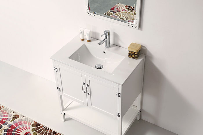 30 In. Freestanding Bathroom Vanity Set with Mirror