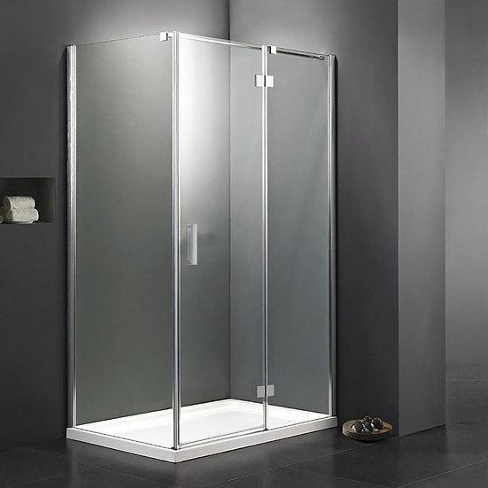 "48"" Pivot Shower Door And 36"" Side Panel"