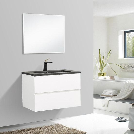"30"" Edge - White - Single Sink Wall-Hung Bathroom Vanity"
