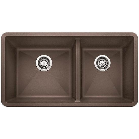 Blanco Undermount Kitchen Sink Precis U 1 3/4, Cafe