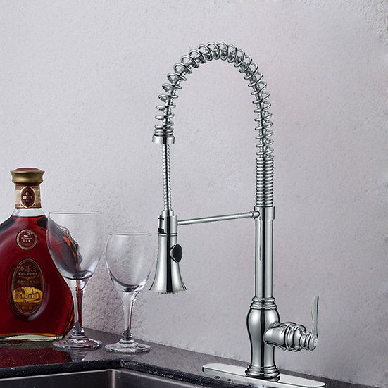 Kitchen Faucet with Spring Spray Head