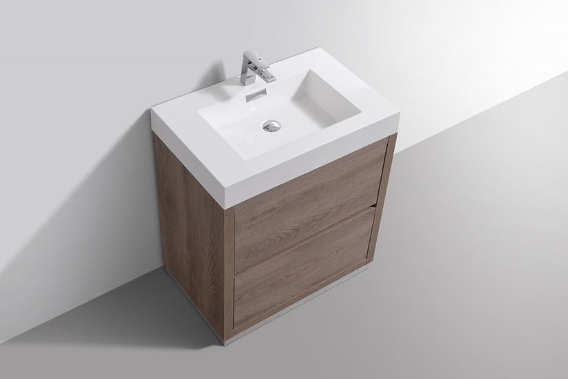 "30"" BLISS - Butternut - Single Sink Free Standing Vanity"