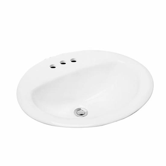 """LBG Drop-in porcelain sink 20"""" x 17"""""""