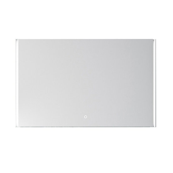 """48"""" GEO LED Mirror - Solid Surface Frame"""