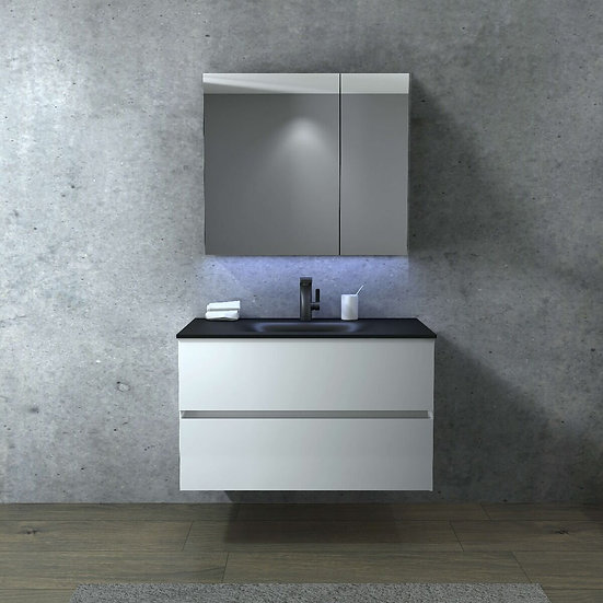 "34"" Emily - White - Single Sink Wall-Hung Bathroom Vanity"